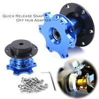 Quick Release Steering Wheel Hub Blue Aluminium for Momo Sparco Universal Car