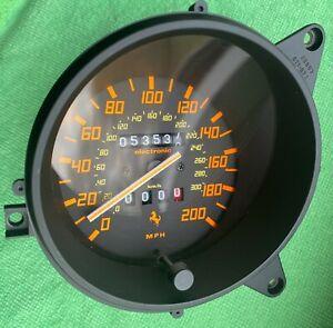 Ferrari 348 Speedometer Tacho Geschwindigkeitsanzeige 142777 53537mls MPH