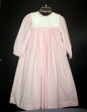 REMEMBER NGUYEN GIRLS SZ. 8 PINK CHECK BISHOP DRESS NWT
