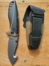 "Gerber Myth folding Blade Pro 3.75"" Plain Edge Gut Hook w/ Sheath 31-001095"