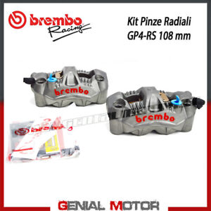 Kit Pair Radial Brake Calipers Brembo Racing Gp4-Rs Sx Dx Monobloc 108 Mm Pad