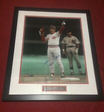 Pete Rose autographed professionally framed 16x20 photo Cincinnati Reds  7/14/06