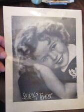 Shirley Temple Child Publicity Photo on thin paper stock