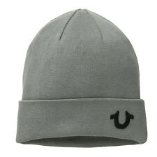5f215c68166 True Religion TR1898 FACTORY GREY Cashmere Blend Watchcap Beanie Hat