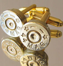 44 MAG Magnum STARLINE Bullet Cufflinks Gold Brass Pistol Bottle Opener Availabl
