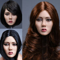 YMTOYS 1:6 Scale Asian Beauty Head Sculpt With Hair fit F Phicen Wheat Body toy