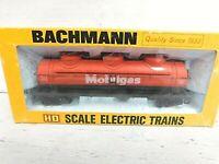 HO Scale Bachmann #0939 Mobilgas 42' 3-Dome Tank Car Model Vintage Train Car