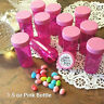 20 Empty Pill Bottles Party Event Favor Jars Solid Pink Lids Caps Cute Pink !!