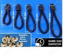 Bungee Loops -10 Pack - Bunji Tonneau Ute Marine Repair Loop - 5 sizes available