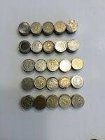 Lot 50 25cent Gaming Tokens - Las Vegas, riverboat & other casinos. 0.984 SIZE