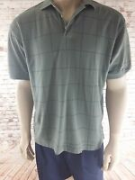 Boca Classic's Men's Grey Short Sleeve Club Golf Polo Size Medium golf shirt