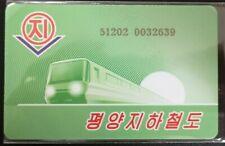 Pyongyang Metro Card - subway ticket chargecard