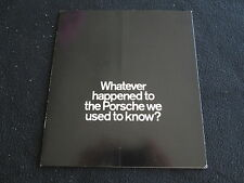 1971 Porsche 'Whatever happened' Sales Brochure, Info Catalog on P/A 911 914 912