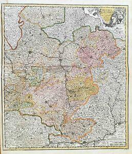 Franken Nürnberg Eichstätt Ansbach Würzburg Bayreuth Weigel Karte Kupferstich