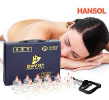 Hansol Professional Cupping Therapy Equipment Set with pumping handle 17 Cups