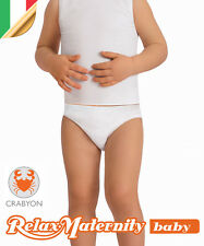 SLIP BAMBINO CRABYON RelaxMaternity Baby INTIMO BIMBI 6-36 MESI NEONATO MUTANDA