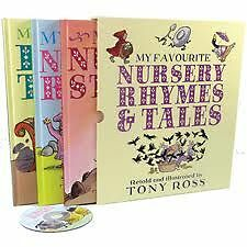 MY FAVOURITE NURSERY RHYMES & TALES - by TONY ROSS  Large Format in Slipcase NEW