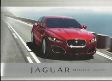 Jaguar Xf 2.2, 3.0 V6 & 5.0 V8 petrol/supercharged precios folleto de julio de 2011