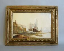 Fine Early 19th C. English Watercolor by Copley Fielding  Seascape Ship Painting
