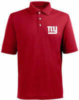New York Giants Red Dri-Fit Embroidered Polo Golf Shirt