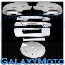 07-13 Chevy Silverado Chrome Mirror+2 Door Handle+Tailgate no KH Cam+Gas Cover