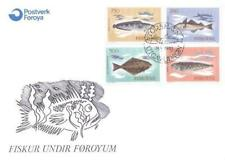 Denmark Faroe 1983 FDC 86-89 Ryby Fisch