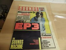 THE SOUND MACHINE EP #3 WITH MUSIC PAPER DATED SEPT 1988 DINOSAUR JR