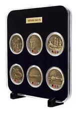 Vietnam Medallions Set Of Six in Case Presentation-Free Postage-Compare & Save!!
