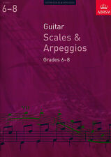 ABRSM Guitar Scales & Arpeggios Grades 6 to 8 Exam Sheet Music Book From 2009
