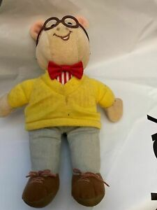 """Vintage Arthur Plush Doll Marc Brown 1995 Eden Stuffed Toy 7"""" - shirt stained"""
