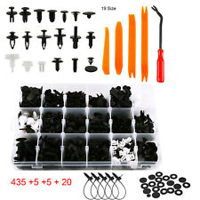 435 x Plastic Car Push Pin Rivet Trim Clips Panel Fasteners Interior Assortment