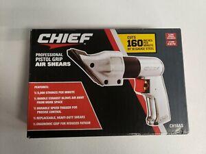Chief CH18AS Professional Pistol Grip AIR SHEARS #57301  BRAND NEW