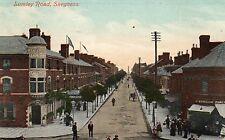 Lumley Road - Skegness - Lincolnshire 1910 Postcard. Lion Hotel, Shops (LA)