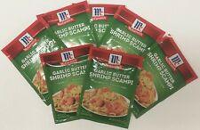 7 McCormick Garlic Butter Shrimp Scampi Seasoning Mix .87 oz Packets