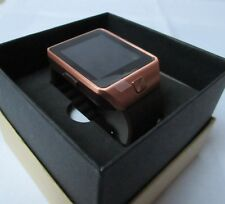 Smartwatch - copper/gold colour with brown strap