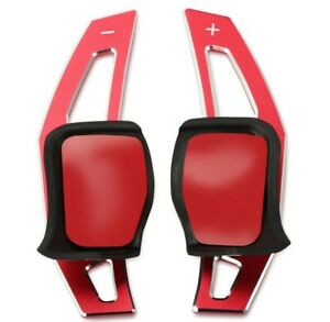 VW DSG Metal Paddle Shift Extensions MK5 MK6 GTI Golf R Golf R32 Aluminium RED