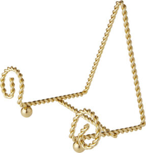 """Bard's Scroll Twisted Gold-toned Wire Stand, 4"""" H x 5.5"""" W x 3"""" D (Pack of 6)"""