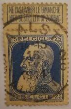 Belgio 25 cent 1905 Leopoldo II Usato Mi: BE 75 ERRORE nella parte asportabile