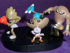 ot zk YuJin Tomy Pokemon Zukan 1/40 Scale Figure  Hitmonchan Hitmonlee hitmontop