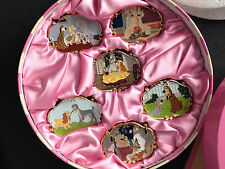 Disney 25th Anniversary Lady and the Tramp Collector's Boxed Pin Set 6-Pc LE 500
