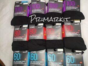 PRIMARK LADIES/GIRLS SOFT TOUCH BLACK OPAQUE TIGHTS 40/60/80/100/200 DENIER,LYCR