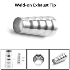 Universal Car Stainless Steel Exhaust 5 Step Reducer Adapter Connector Pipe Cone