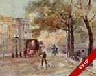 PICCADILLY LONDON OLD ENGLAND ENGLISH BRITISH ART REAL CANVAS PAINTING PRINT