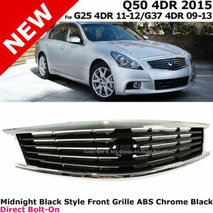 For Infiniti 10-13 G37 &11-12 G25 2015 Q40 Sedan Chrome Front Bumper Hood Grille