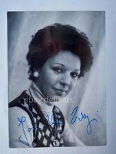 AUTOGRAFO autograph JOSELLA LIGI lirica soprano teatro Trieste foto Rota