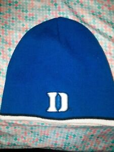 New! Duke University Blue Devils Embroidered D Beanie Hat Knitted Skull Cap