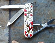 Victorinox Edelweiss Classic Red Original Swiss Army Knife 54719 New! Authentic!