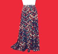 LULAROE ... Long  Maxi  Flare  Skirt ... Black Gray Red ... Size  S ... NEW