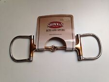 "5"" Stainless Steel Copper Mouth English or Western D-Ring Dee Ring Snaffle Bit"