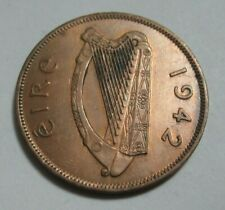 1942 Irish Hen One Penny